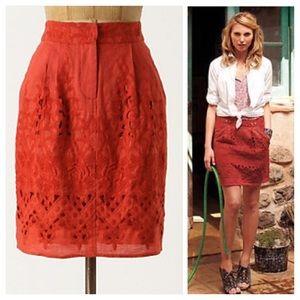 Anthropologie Tomato Picking Skirt